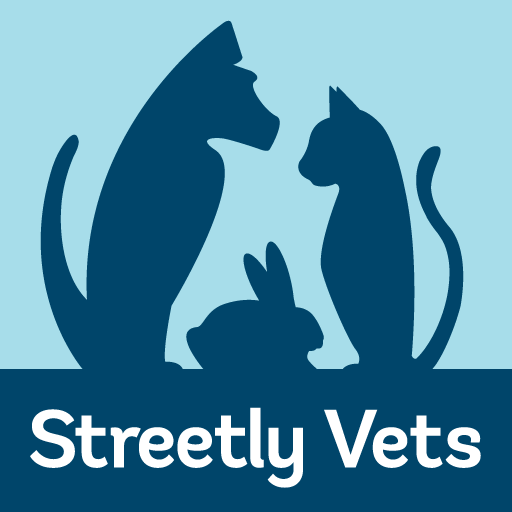Gertie in the Streetly Vets logo
