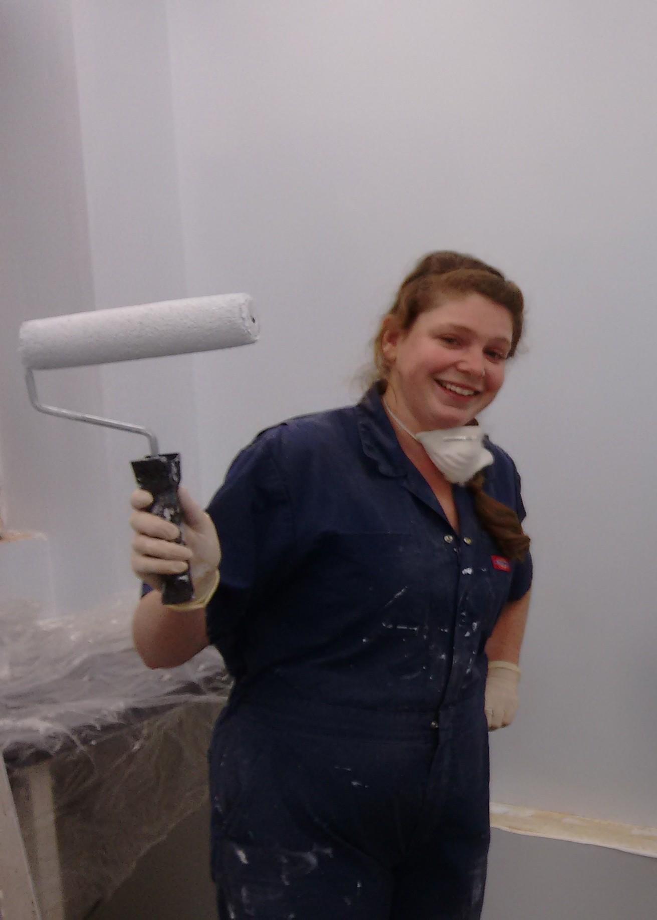 Dr Jamie painting