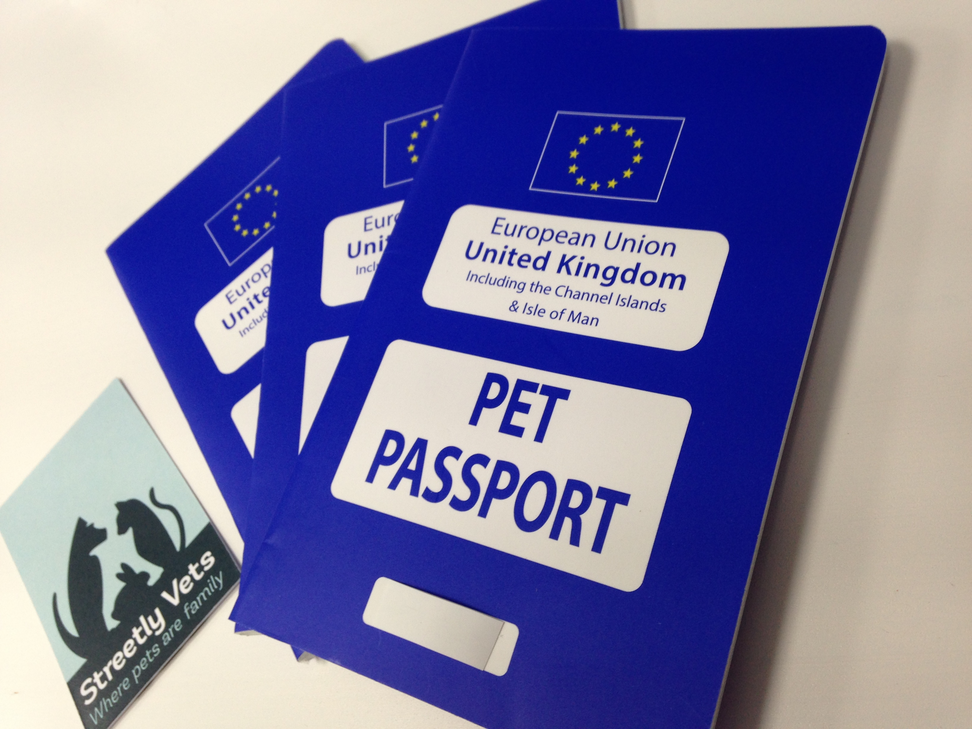 Pet passports at Streetly Vets